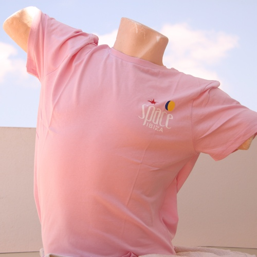 T-Shirt - Space Logo (Pink Mens)