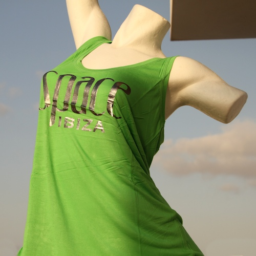 Space Logo Vest Singlet (Womens Green)