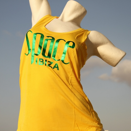 Space Logo Vest Singlet (Womens Yellow)